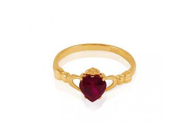 Золотое кладдахское кольцо с выращенным рубином к-647-017- объявление о продаже  в Киеве