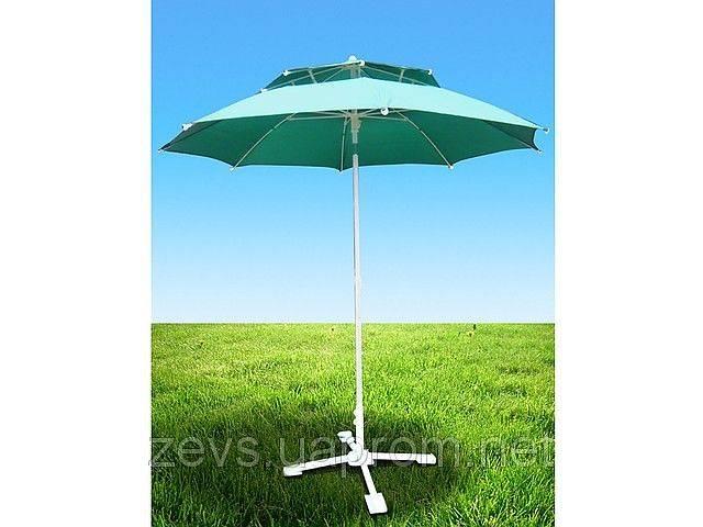 Зонт торговый Антиветер с 2мя куполами 3 м. Парасоля.- объявление о продаже  в Виннице