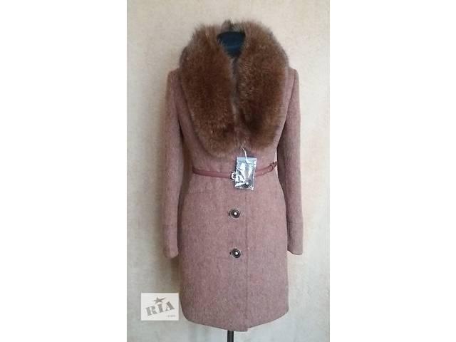 Зимнее пальто с натуральным мехом песца- объявление о продаже  в Николаеве