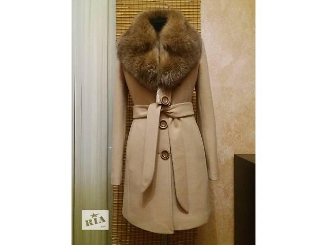 продам Зимнее пальто с натуральным мехом песца бу в Николаеве