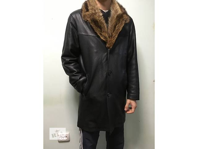 бу Зимняя кожаная куртка на меху в Каменец-Подольском