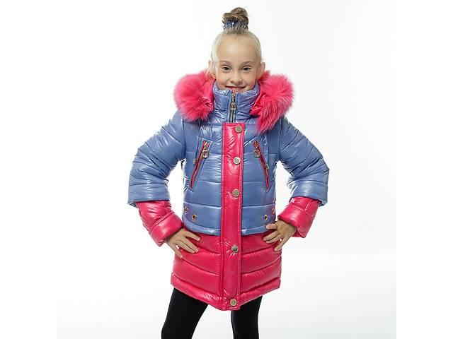 бу Зимняя куртка-пальто на девочек 7-11 лет, очень эффектное в Харькове