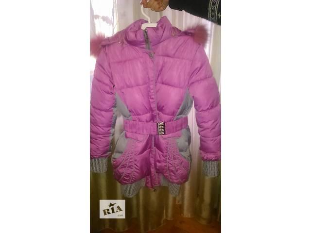 продам Зимняя курточка для девочки122-128 в отличном состоянии бу в Киеве