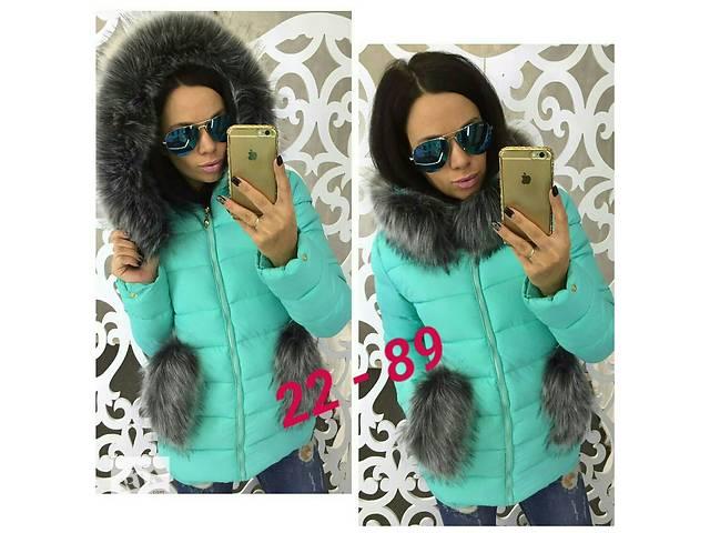 купить бу Зимняя курточка с мехом в Калуше