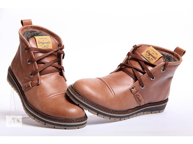 Зимние ботинки Clarks Originals Desert Trek из качественной кожи- объявление о продаже  в Вознесенске