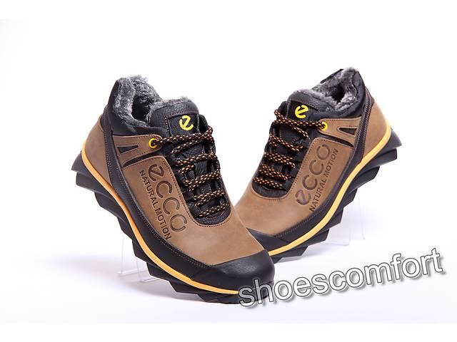 бу Зимние ботинки Ecco Natural Motion olive/black из натуральной кожи в Вознесенске