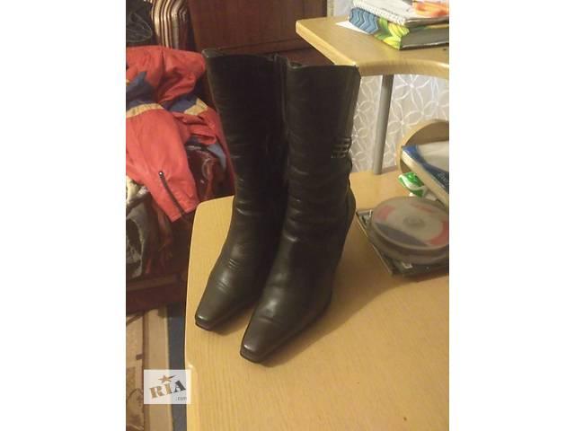 купить бу Зимние кожаные сапоги, 36 размер, бесплатно в Днепре (Днепропетровске)