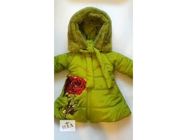 продам Зимние курточки для девочек,105-120см бу в Киеве