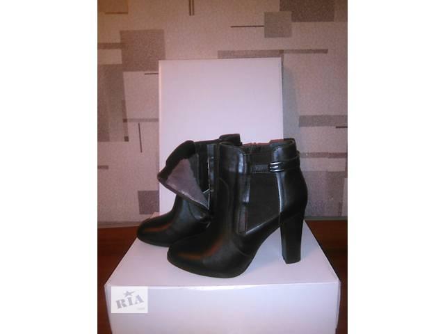 купить бу Зимние женские ботинки из натуральной кожи в Одессе