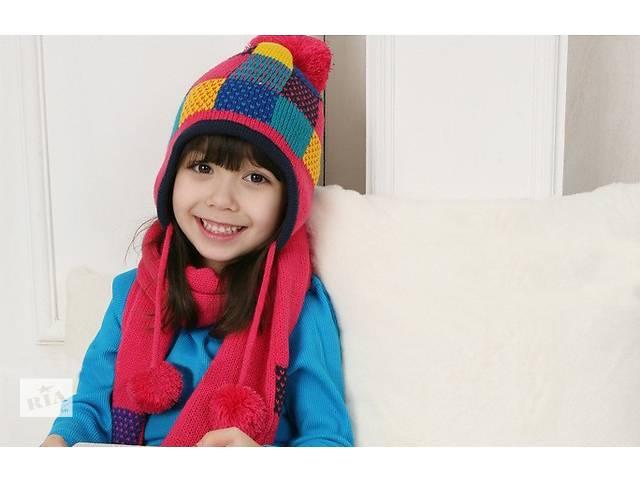 продам Зимний комплект шапка и шарфик бу в Харькове