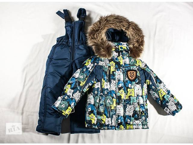 Зимний комплект Мишки - курточка и полукомбинезон размеры 92,98,104,110- объявление о продаже  в Харькове