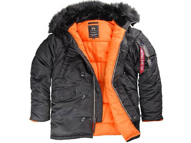 Зимняя куртка Аляска Alpha Industries N-3B Slimfit(черный цвет)- объявление о продаже  в Киеве