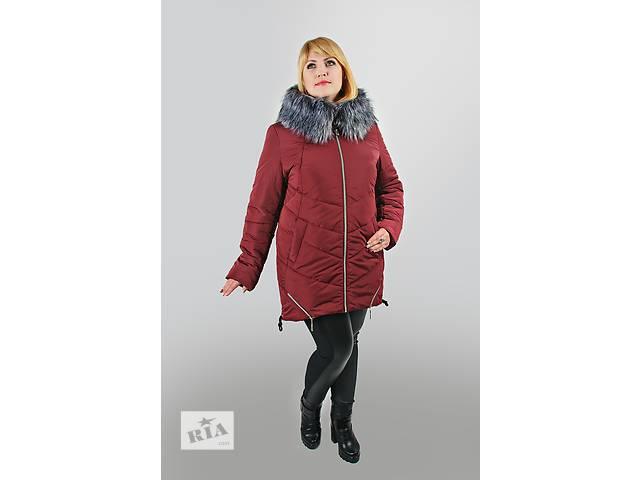 бу Зимняя теплая женская куртка на холлофайбере большие размеры в Хмельницком