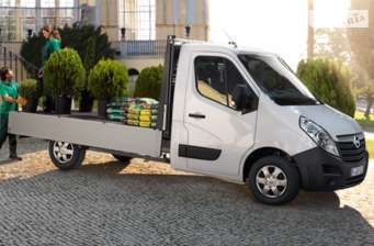 Opel Movano груз. Chassis Cab Dropside 2.3TD МТ (163 л.с.) Start/Stop L4H1 4500 Double Wheel RWD   2017