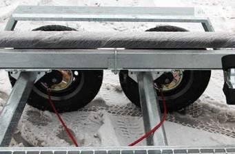 Прицеп Лодочный Двухосный для лодок до 6,3 м с торм.системой 2016