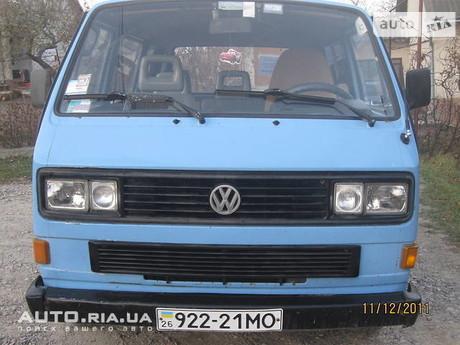 Volkswagen T3 (Transporter) пас. 1988