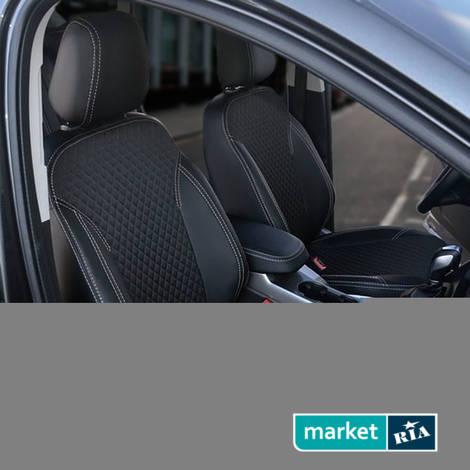 Чехлы на сиденья AVTOMANIA TEX-LINE (Экокожа + Автоткань): фото - MARKET.RIA
