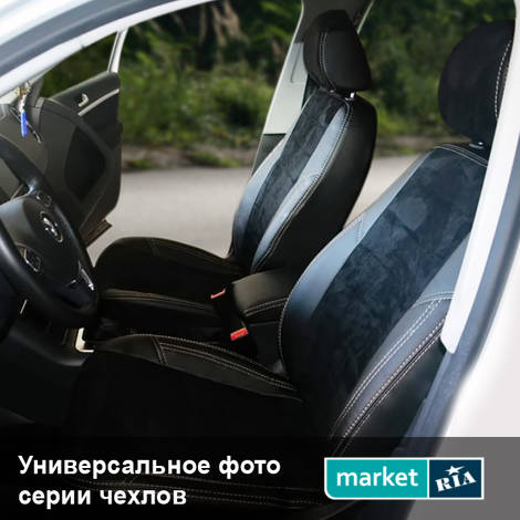 Чехлы на сиденья AVTOMANIA X-LINE (Экокожа + Алькантара): фото - MARKET.RIA