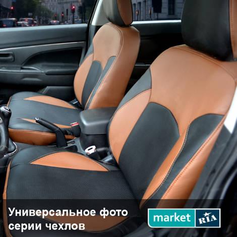 Авточехлы Союз-Авто Elite (Экокожа) (коричневый + черный) для Hyundai Accent 2011-2017: фото - MARKET.RIA