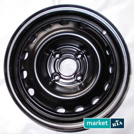 Штампованные (железные) диски  Kapitan  (R14 W5.5 PCD4x100 ET49 DIA56.6): фото - MARKET.RIA