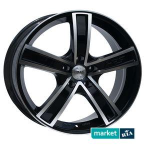 литые легкосплавные диски Racing Wheels H-412 BK-F/P