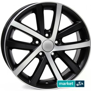 литые легкосплавные диски Racing Wheels H-565 BK/FP