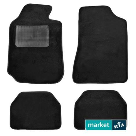 Коврики в салон Elegant Текстиль A из ворса (черные) для Elegant Mats: фото - MARKET.RIA