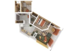 АКТ Bartolomeo Resort Town: планировка 1-комнатной квартиры 48.5 м²