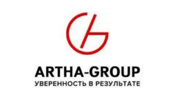 Логотип строительной компании ARTHA-GROUP