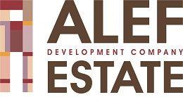 Логотип строительной компании Alef Estate (Элеф Эстейт)