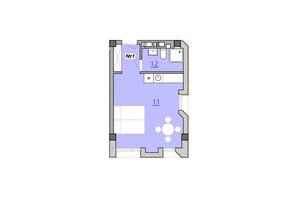 Апарт-комплекс Кампус: вільне планування квартири 28 м²