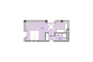 Апарт-комплекс Кампус: вільне планування квартири 31 м²