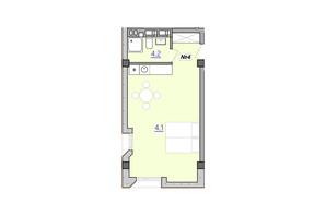 Апарт-комплекс Кампус: вільне планування квартири 34.6 м²