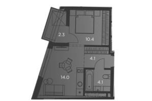 Апарт-комплекс Pokrovsky Apart Complex: планування 1-кімнатної квартири 35 м²