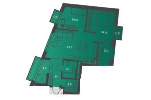 Апарт-комплекс Pokrovsky Apart Complex: планировка 2-комнатной квартиры 70 м²