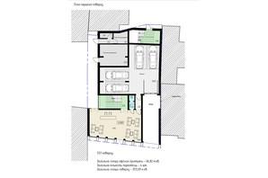 БЦ Антоновича 54а: планировка помощения 253 м²