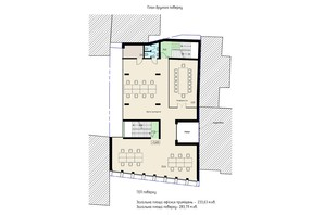 БЦ Антоновича 54а: планировка помощения 283.79 м²