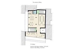 БЦ Антоновича 54а: планировка помощения 251.29 м²
