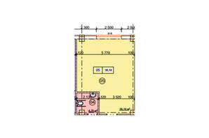 БЦ Діамант: планування приміщення 35 м²