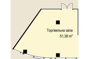 БЦ Idm Mall: планування приміщення 51.38 м²