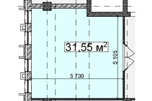 БЦ Idm Mall: планировка помощения 31.55 м²