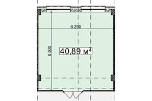 БЦ Idm Mall: планировка помощения 40.89 м²