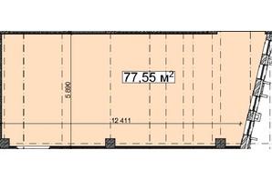 БЦ Idm Mall: планировка помощения 77.55 м²