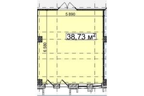 БЦ Idm Mall: планировка помощения 38.3 м²