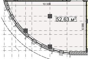 БЦ Idm Mall: планировка помощения 52.63 м²