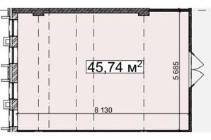 БЦ Idm Mall: планировка помощения 45.74 м²