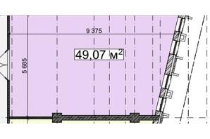 БЦ Idm Mall: планировка помощения 49.07 м²