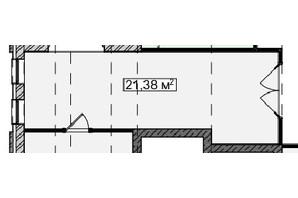 БЦ Idm Mall: планировка помощения 21.38 м²