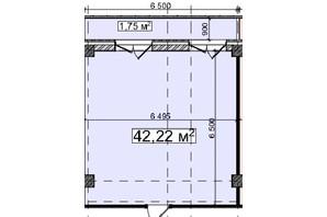 БЦ Idm Mall: планировка помощения 42.22 м²