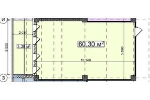 БЦ Idm Mall: планировка помощения 60.3 м²